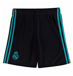 2017-2018 Real Madrid Adidas Away Shorts (Black) - Kids