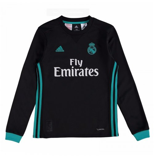 129889598f Buy 2017-2018 Real Madrid Adidas Away Long Sleeve Shirt (Kids)