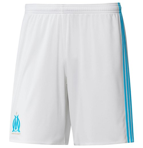 2017-2018 Olympique Marseille Adidas Home Shorts (White) - Kids