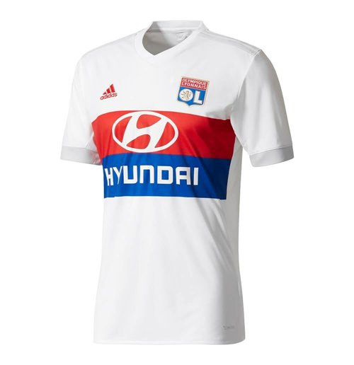 2017-2018 Olympique Lyon Adidas Home Football Shirt (Kids)