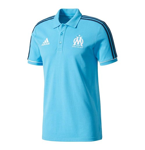 2017-2018 Marseille Adidas Polo Shirt (Blue)