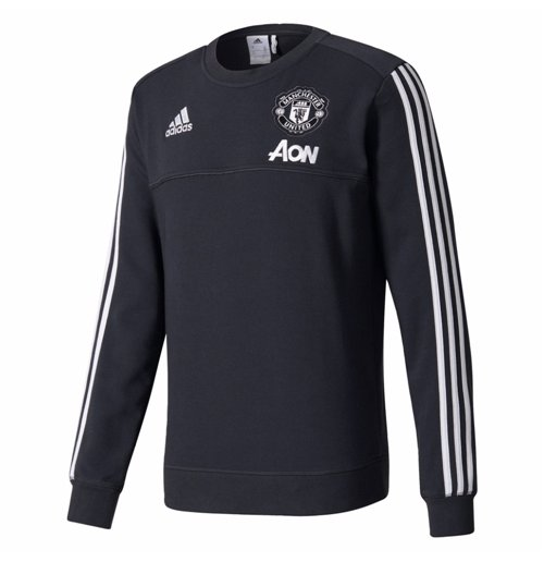 2017-2018 Man Utd Adidas Training Sweat Top (Night Grey)