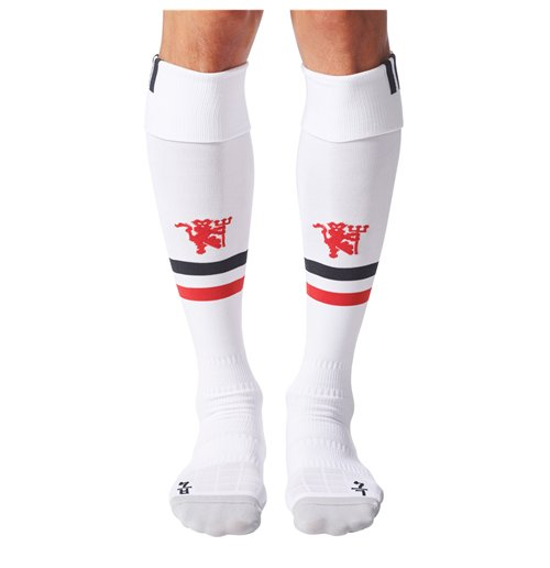 2017-2018 Man Utd Adidas Home Socks (White)