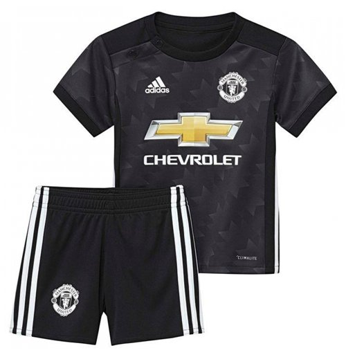 2017-2018 Man Utd Adidas Away Baby Kit