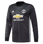 2017-2018 Man Utd Adidas Away Long Sleeve Shirt (Kids)