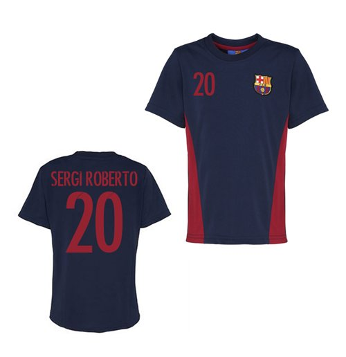 Official Barcelona Training T-Shirt (Navy) (Sergi Roberto 20)