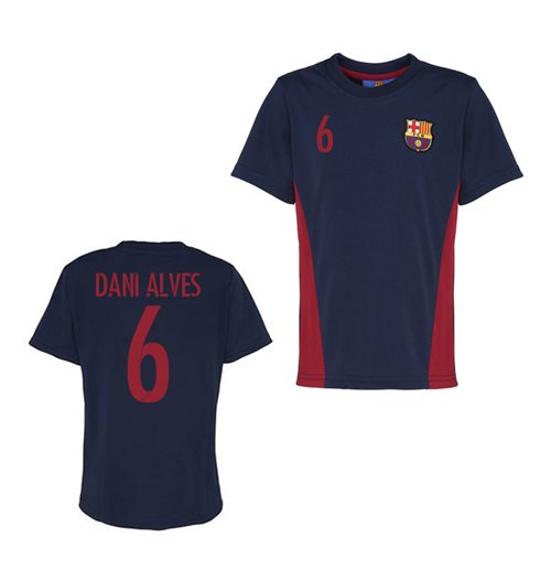 Official Barcelona Training T-Shirt (Navy) (Dani Alves 6)