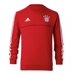 2017-2018 Bayern Munich Adidas Sweat Top (Red) - Kids