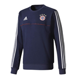2017-2018 Bayern Munich Adidas Sweat Top (Navy)