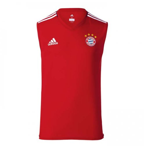 2017-2018 Bayern Munich Adidas Sleeveless Shirt (Red)