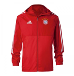 2017-2018 Bayern Munich Adidas Rain Jacket (Red) - Kids