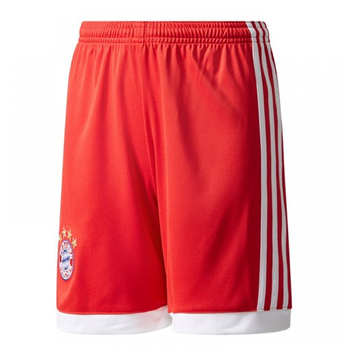 2017-2018 Bayern Munich Adidas Home Shorts (Red) - Kids