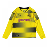 2017-2018 Borussia Dortmund Long Sleeve Home Puma Shirt (Kids)