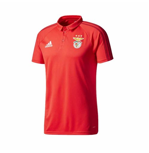 2017-2018 Benfica Adidas Polo Shirt (Red)