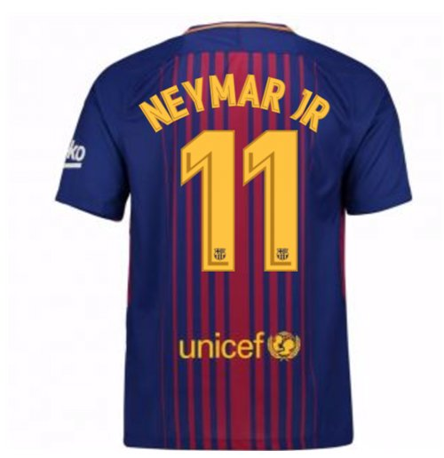 2017-2018 Barcelona Home Shirt (Neymar JR 11)