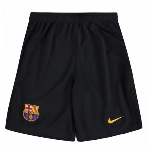 2017-2018 Barcelona Home Nike Goalkeeper Shorts (Black) - Kids