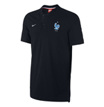 2017-2018 France Nike Authentic GS Slim Polo Shirt (Black)