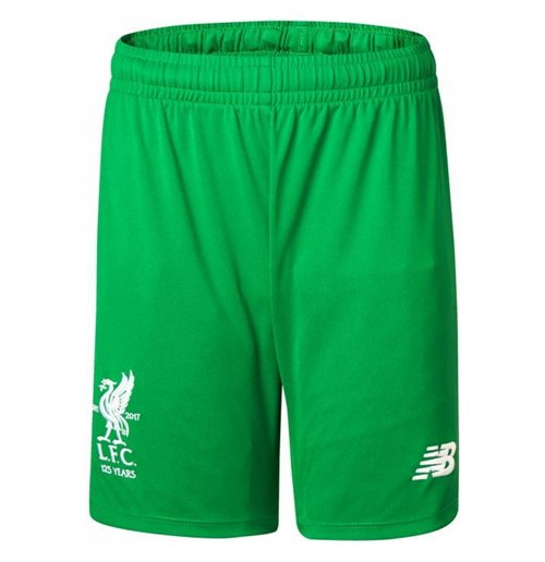 2017-2018 Liverpool Home Goalkeeper Shorts (Green) - Kids