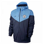 2017-2018 Man City Nike Authentic Windrunner Jacket (Navy)
