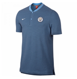 2017-2018 Man City Nike Authentic Grand Slam Polo Shirt (Blue)