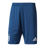 2017-2018 Juventus Adidas Training Shorts (Blue)