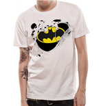 Batman - Torn Logo - Unisex T-shirt White