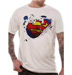 Superman - Torn Logo - Unisex T-shirt White