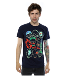 Suicide Squad Men's Band Of Skulls Tee Deep Navy
