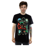 Suicide Squad Men's Band Of Skulls Tee Black