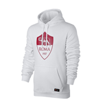 2017-2018 AS Roma Nike Core Hooded Top (White) - Kids