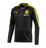 2017-2018 Borussia Dortmund Puma Long Sleeve Training Shirt (Black)