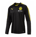 2017-2018 Borussia Dortmund Puma Training Sweat Top (Black)