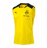 2017-2018 Borussia Dortmund Puma Sleeveless Shirt (Yellow)