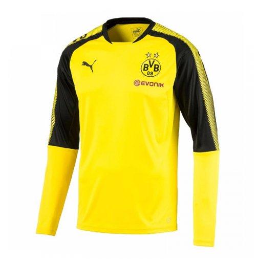 uk availability f26c7 6f33d 2017-2018 Borussia Dortmund Puma Long Sleeve Training Shirt (Yellow) - Kids