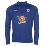 2017-2018 Chelsea Nike Drill Training Top (Blue)