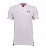 2017-2018 Chelsea Nike Authentic Grand Slam Polo Shirt (Platinum)