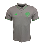 2017-2018 Celtic Elite Media Power Polo Shirt (Grey Marl)