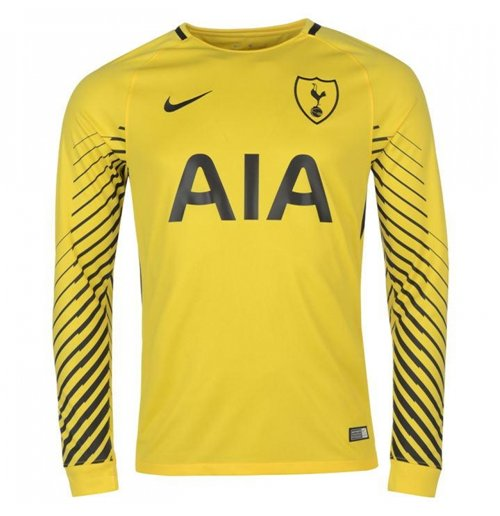 Buy 2017 2018 Tottenham Home Nike Goalkeeper Shirt Yellow Kids