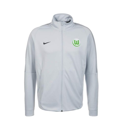 2017-2018 VFL Wolfsburg Nike Authentic Franchise Jacket (Grey)