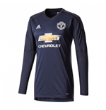 2017-2018 Man Utd Adidas Home Goalkeeper Shirt (Kids)