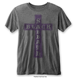 Black Sabbath Men's Fashion Tee: Vintage Cross with Burn Out Finishing