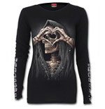 Dark Love - Buckle Cuff Long Sleeve Top