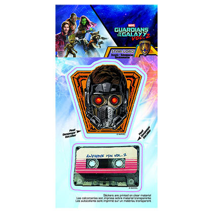 GUARDIANS OF THE GALAXY Star Lord Mask and Mixtape Car Window Decal
