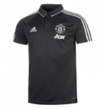 2017-2018 Man Utd Adidas Training Polo Shirt (Night Grey)