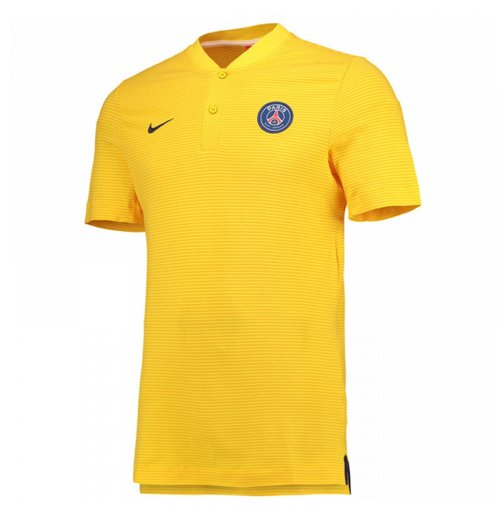 2017-2018 PSG Nike Authentic League Polo Shirt (Yellow) - Kids