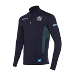 2017-2018 Scotland Macron Rugby Performance Softshell Half Zip Top (Navy)
