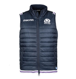 2017-2018 Scotland Macron Rugby Padded Gilet (Navy)