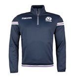 2017-2018 Scotland Macron Rugby Microfleece Half Zip Top (Navy)
