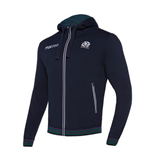 2017-2018 Scotland Macron Rugby Heavy Cotton Full Zip Hoody (Navy)