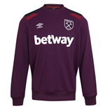 2017-2018 West Ham Training Sweatshirt (Winter Bloom)